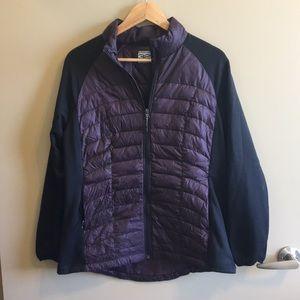 32 Degrees Black & Purple Insulated Zip Jacket